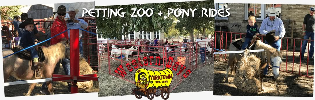 Petting Zoo and Pony Rides at Western days